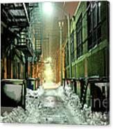 Dark Gritty Alleyway Canvas Print