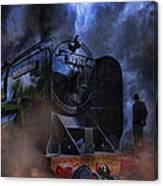 Dark Man At The Station Canvas Print