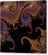Dark Paisley Tails Canvas Print