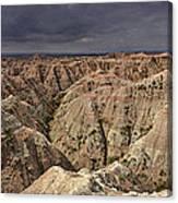Dark Panorama Over The South Dakota Badlands Canvas Print