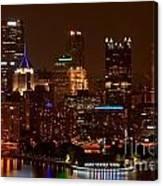 Dark Pittsburgh Skyline Canvas Print