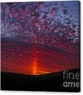 Dark Red Sunset Canvas Print