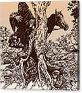 Dark Rider-tolkien Appreciation Canvas Print