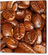 Dark Roasted Coffee Beans Canvas Print