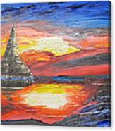 Dark Sail Canvas Print