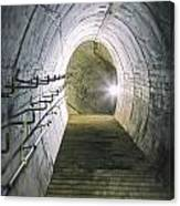 Dark Tunnel And Staircase Canvas Print