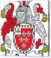 Darley Coat Of Arms Irish Canvas Print