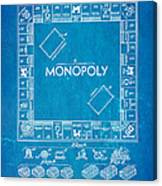 Darrow monopoly board game patent art 1935 blueprint art print by darrow monopoly board game patent art 1935 blueprint canvas print malvernweather Image collections