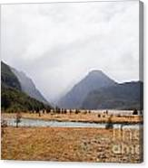 Dart River Valley Rain Clouds Mt Aspiring Np Nz Canvas Print