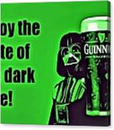 Darth Drinks Guinness Canvas Print