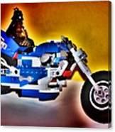 Darth Vader Rides A Harley  Hdr Canvas Print