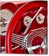 Dashboard Red Classic Car Canvas Print