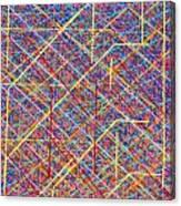 Data Structure Canvas Print