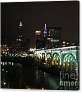 Date Night In Cleveland - From His Window Canvas Print