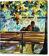 Date On The Bench Canvas Print