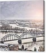 Daugava Railway Bridge Canvas Print