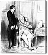 Daumier: Doctor Cartoon Canvas Print
