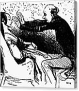 Daumier: The Hypnotist Canvas Print