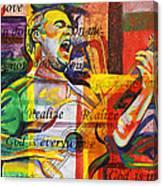 Dave Matthews-bartender Canvas Print