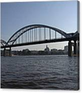 Davenport Skyline And Centennial Bridge Canvas Print