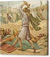 David About To Slay Goliath Canvas Print