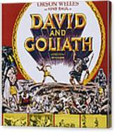 David And Goliath, Aka David E Golia Canvas Print