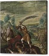 David Beheading Goliath Canvas Print
