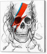 David Bowie Aladdin Sane Medusa Skull Canvas Print
