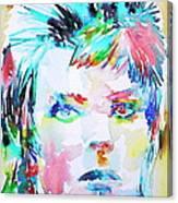 David Bowie - Watercolor Portrait.6 Canvas Print