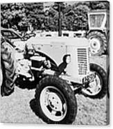 david brown 25D classic tractor during vintage tractor rally at glenarm castle open day county antrim northern ireland Canvas Print