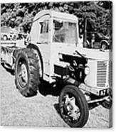 David Brown 25d Classic Tractor With Albion Plough During Vintage Tractor Rally At Glenarm Castle Open Day County Antrim Northern Ireland Canvas Print