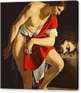 David Contemplating The Head Of Goliath Canvas Print