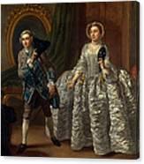 David Garrick And Mrs. Pritchard In Benjamin Hoadley's The Suspicious Husband  Canvas Print