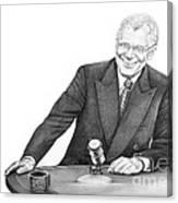 David Letterman Canvas Print
