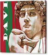David - Michelangelo - Stylised Modern Drawing Art Sketch  Canvas Print