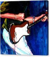 David On Guitar Canvas Print
