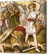 David Slaying Goliath Canvas Print