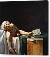 David: The Death Of Marat Canvas Print