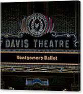 David Theatre Neon - Montgomery Alabama Canvas Print