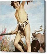 David Victorious Over Goliath Canvas Print