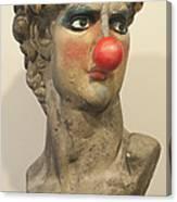 David With Makeup And Clown Nose 1 Canvas Print