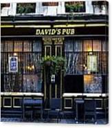 David's Pub Canvas Print