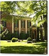 Davidson College Old Well And Philanthropic Hall Canvas Print