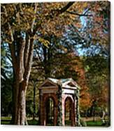 Davidson College Old Well In Autumn Canvas Print