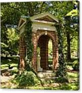Davidson College Old Well Canvas Print