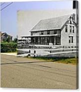 Davis House At Sakonnet Point In Little Compton Ri Canvas Print