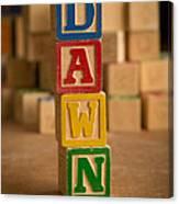 Dawn - Alphabet Blocks Canvas Print