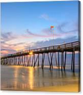 Dawn At Avalon Pier Canvas Print