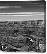 Dawn At Dead Horse Point Bw Canvas Print