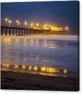 Dawn At Huntington Beach Pier By Denise Dube Canvas Print